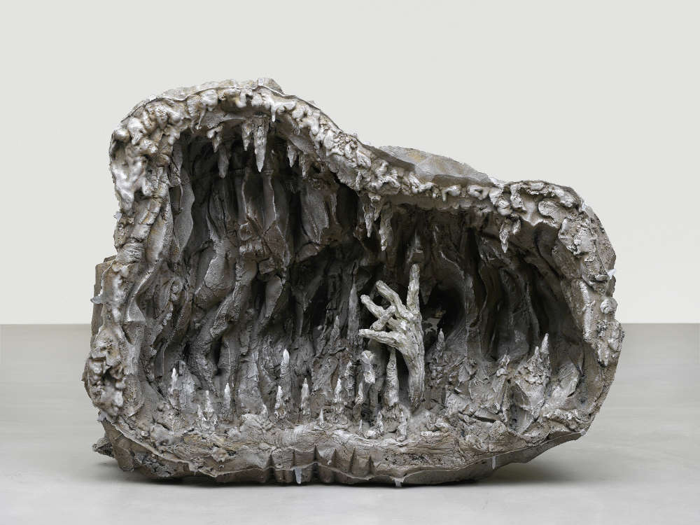 Jean-Marie Appriou, The cave of time (mystique), 2018. Cast aluminum Circa 130 x 170 x 80 cm / 51 1/8 x 66 7/8 x 31 1/2 in © Jean-Marie Appriou. Courtesy the artist and Galerie Eva Presenhuber, Zurich / New York