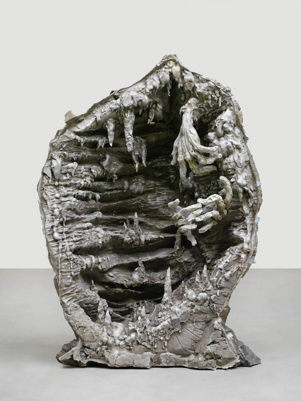Jean-Marie Appriou, The cave of time (mythologique), 2018. Cast aluminum Circa 130 x 170 x 80 cm / 51 1/8 x 66 7/8 x 31 1/2 in © Jean-Marie Appriou. Courtesy the artist and Galerie Eva Presenhuber, Zurich / New York