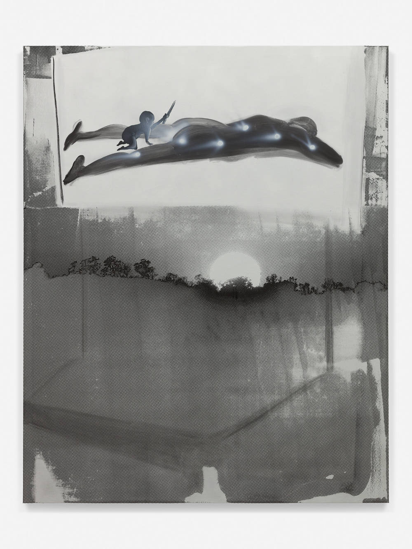 Tala Madani, Sunrise, 2018. Oil on linen 55 x 44 inches (139.7 x 111.8 cm) © Tala Madani, courtesy 303 Gallery, New York
