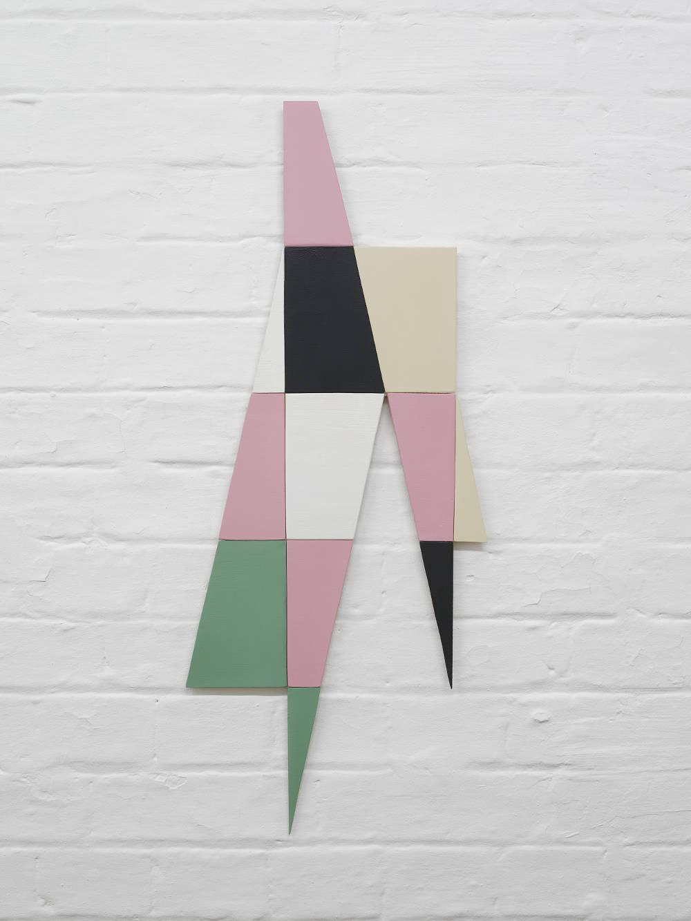 Knut Henrik Henriksen, Untitled, 2015. Paint on wood 74h x 31w x 0.50d cm. Courtesy the artist and Hollybush Gardens, London. Photo: Andy Keate