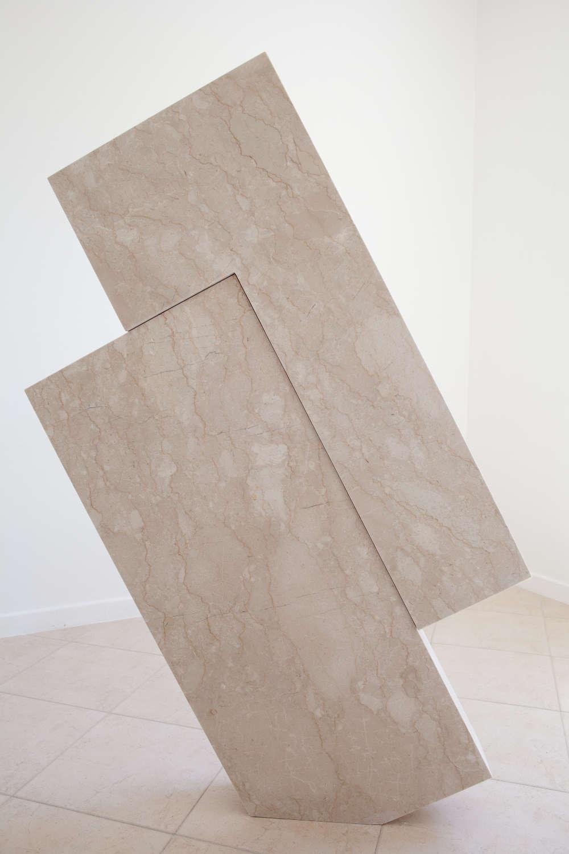 Hidetoshi Nagasawa (1940 - 2018), Perlato, 2017. Marble 156 x 100 x 14 cm 61 3/8 x 39 3/8 x 5 1/2 in. Courtesy Mazzoleni