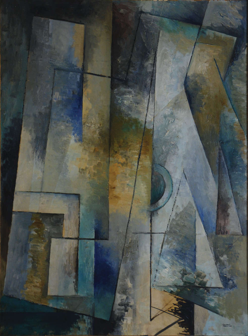 Youla-Chapoval Sans-titre Composition-Bleue 1948