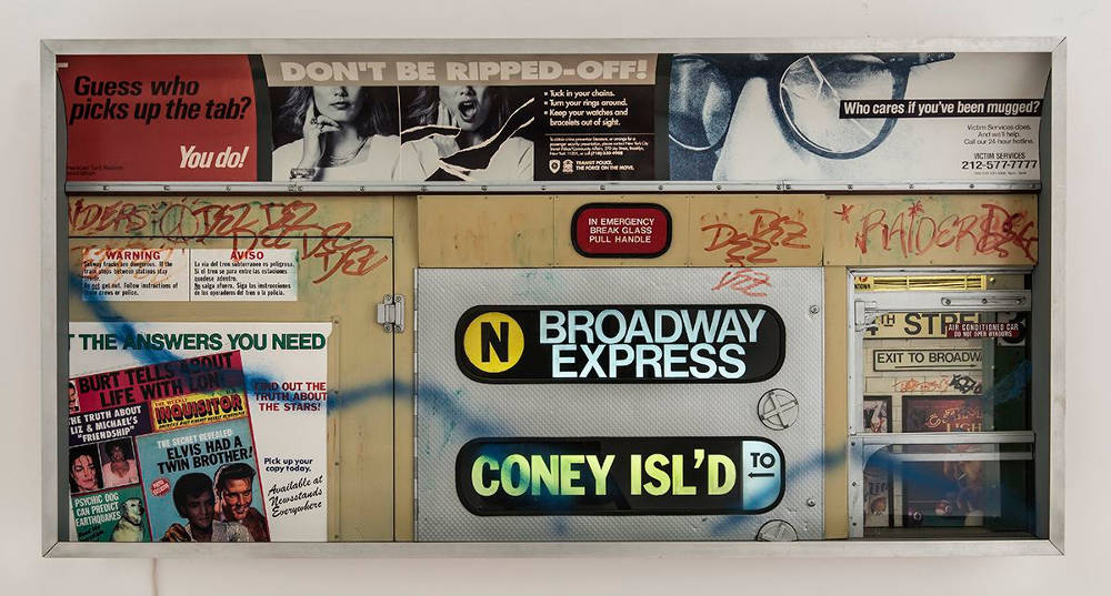 Alan Wolfson (b. 1948), Subway Series (#5), 1993. Mixed media 24 (H) x 48 (W) x 7 1/2 (D) inches