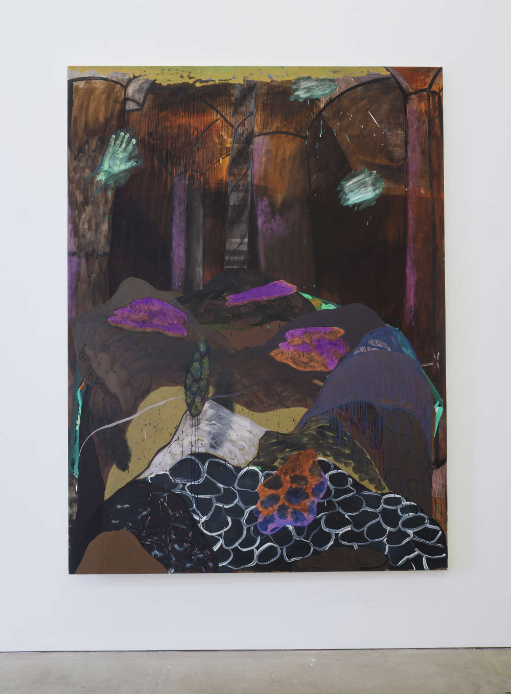 Alice Browne, Beneath[Before]/ FeS₂, 2018, acrylic andoil on canvas, 200x 150cm