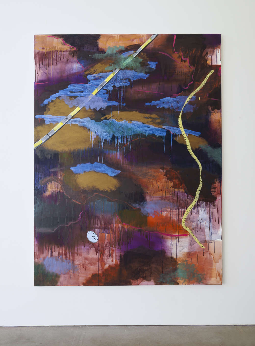 Alice Browne, New--------Place, 2018, acrylic, oil and mica on canvas, 200cm x 150cm