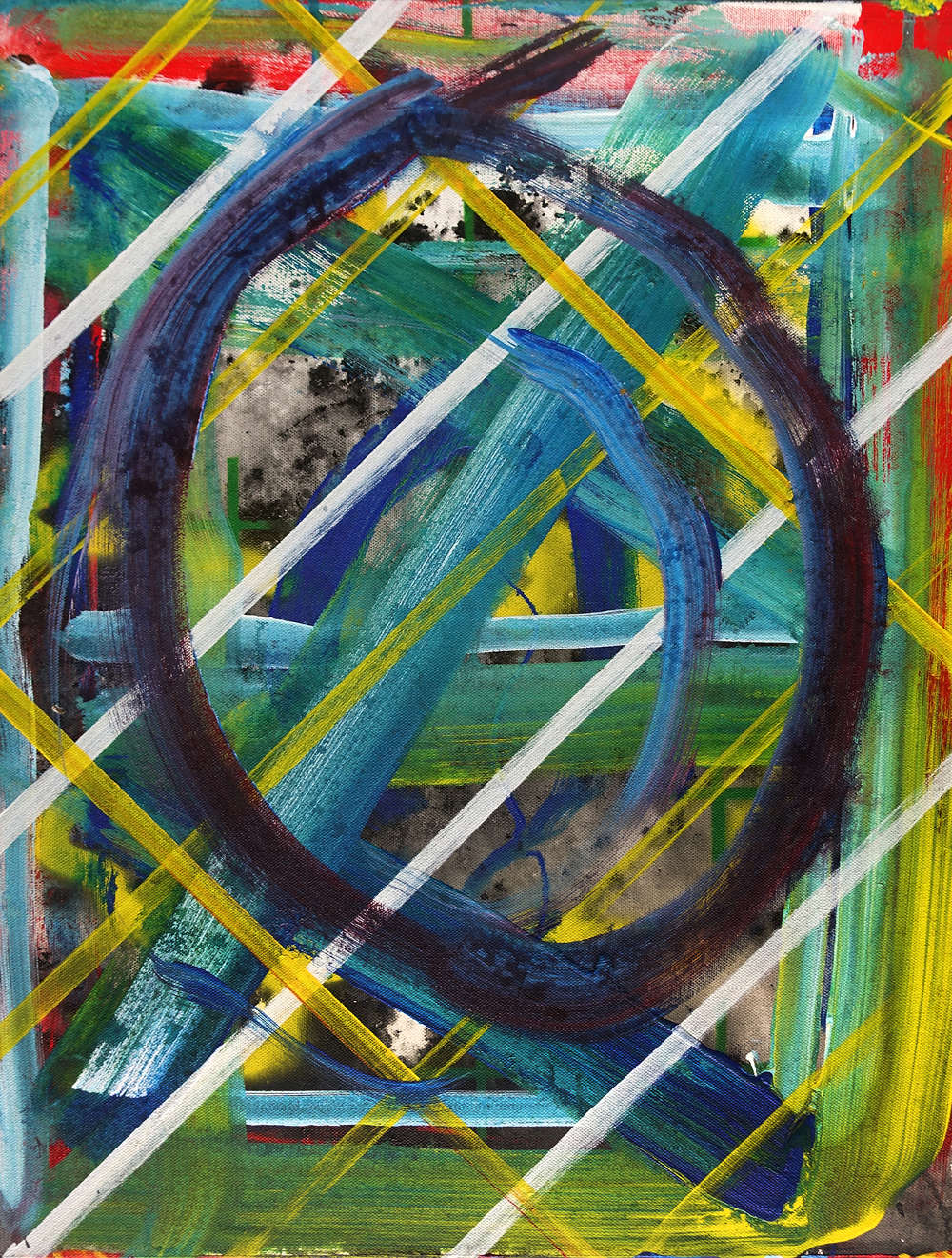 Ed Moses (1926-2018), Whirl, 2017. Acrylic on canvas 24 x 18 inches