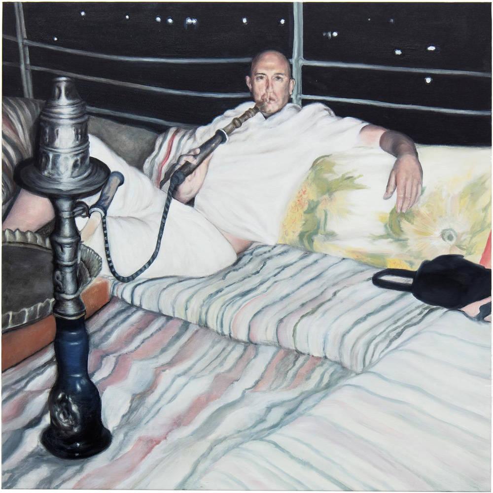 Eric Wesley, myspace, 2018, oil on canvas, 100 x 100 cm