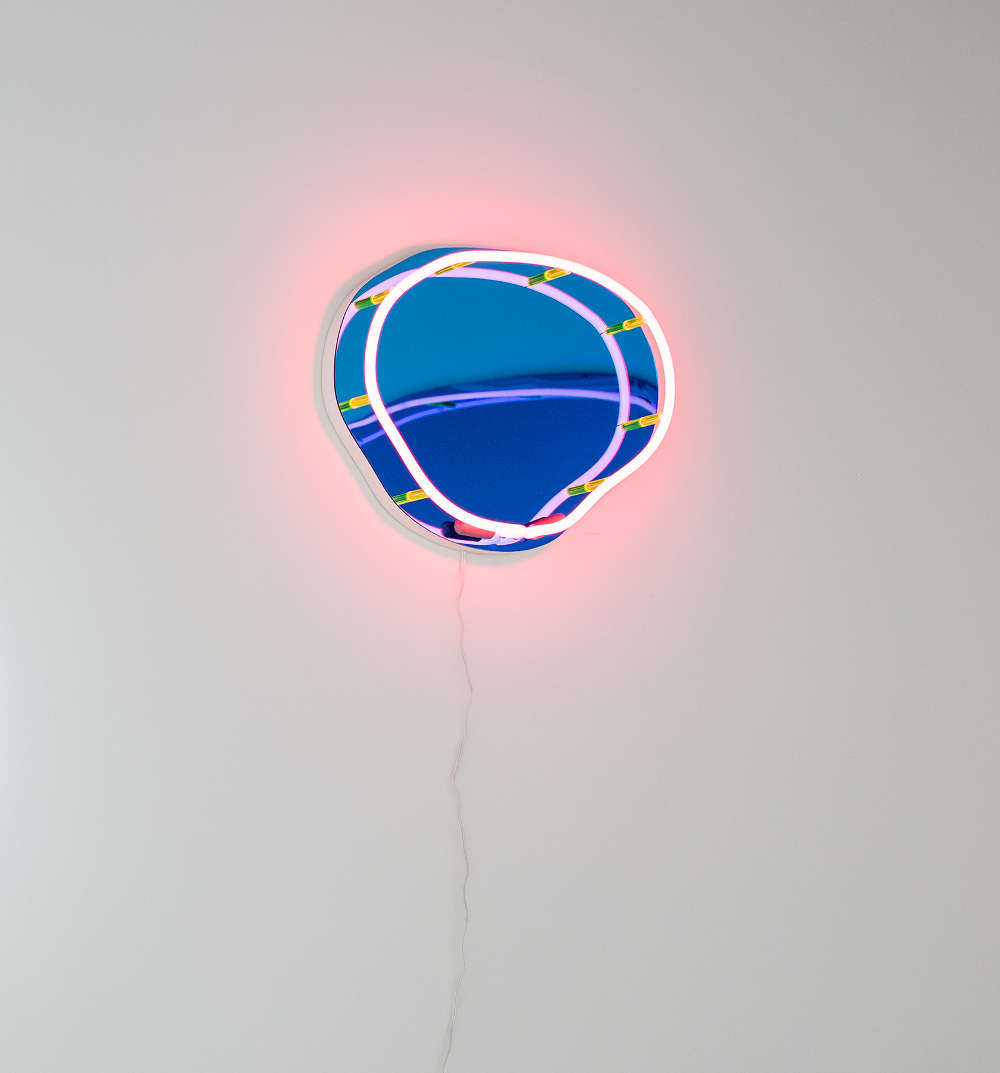 Esther Ruiz (b. 1986), Well XIII, 2017. Neon, Plexiglas, MDF, paint, and hardware 18 (H) x 24 (W) x 3 (D) inches. Edition of 5