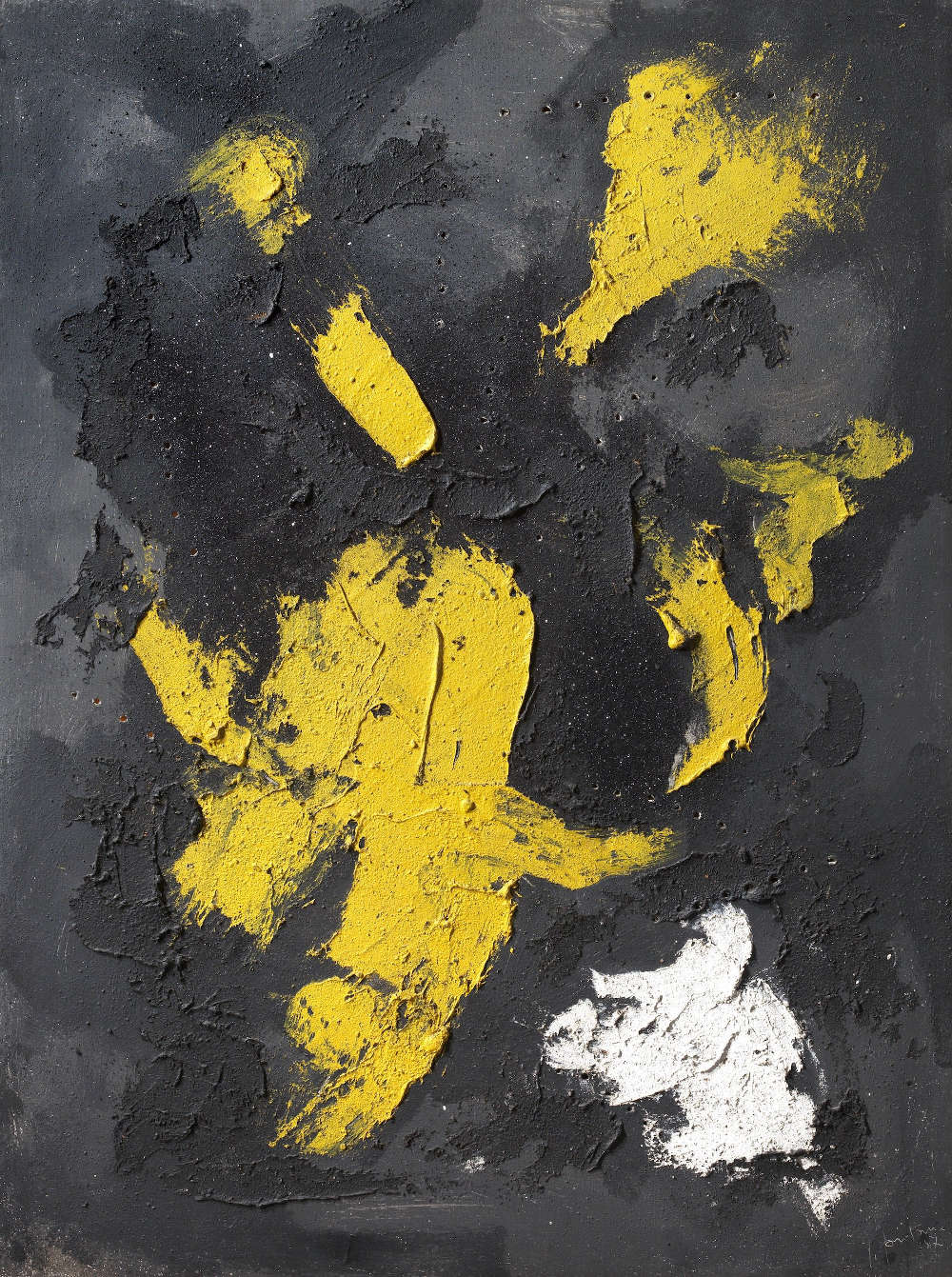 Lucio Fontana, Concetto Spaziale, 1956; oil, mixed media and sequins on canvas, 130x96 cm. Courtesy of Tornabuoni Art