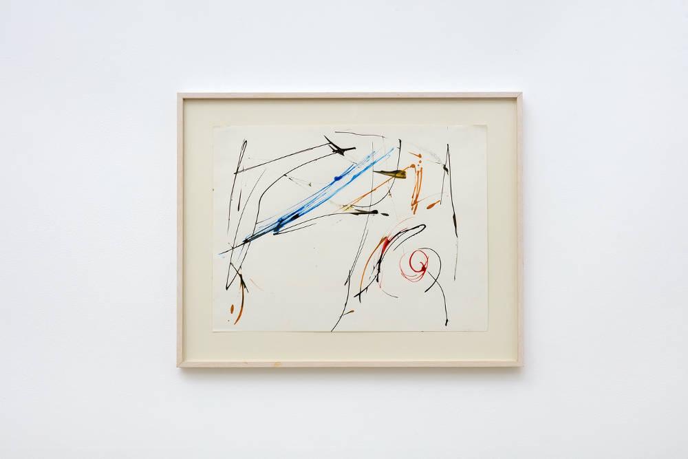Charlotte Posenenske, Informal Work, 1964, acrylic on paper, image size: 35.7 x 47.7 cm, 14 1/8 x 18 3/4 ins. Photo: Robert Glowacki. Courtesy Estate of Charlotte Posenenske, Modern Art, London & Galerie Mehdi Chouakri, Berlin