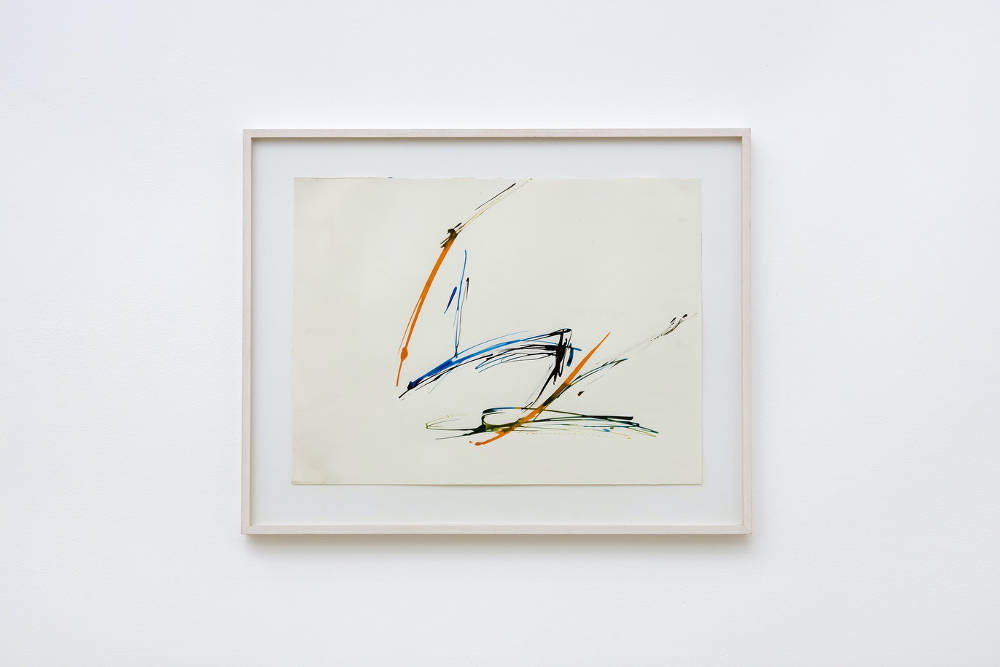 Charlotte Posenenske, Informal Work, 1964, acrylic on paper, image size: 36 x 48 cm, 14 1/8 x 18 7/8 ins. Photo: Robert Glowacki. Courtesy Estate of Charlotte Posenenske, Modern Art, London & Galerie Mehdi Chouakri, Berlin