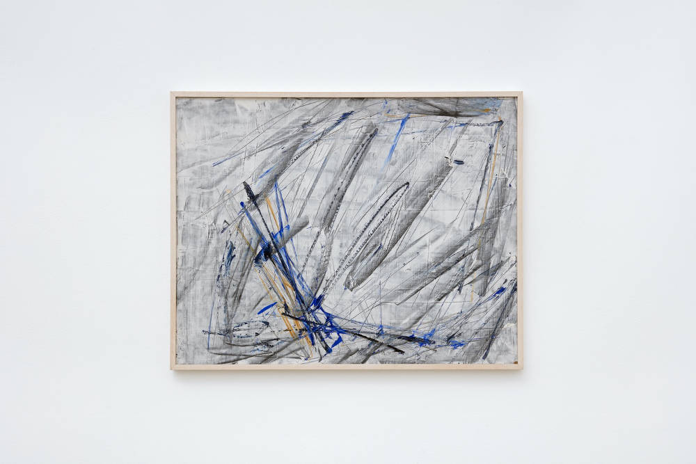 Charlotte Posenenske, Gestische Arbeit (Gestural Work), 1962, acrylic and graphite on hard fiber, 50.2 x 64.8 cm, 19 3/4 x 25 1/2 ins. Photo: Robert Glowacki. Courtesy Estate of Charlotte Posenenske & Modern Art, London