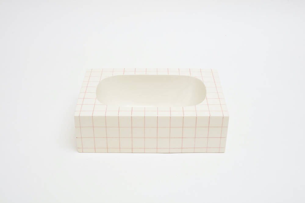 Nicolas Deshayes, Cochonou, 2018, glazed slip-cast earthenware, 11 x 37.5 x 26.5 cm, 4 3/8 x 14 3/4 x 10 3/8 ins. Photo: Robert Glowacki. © Nicolas Deshayes. Courtesy the artist & Modern Art, London