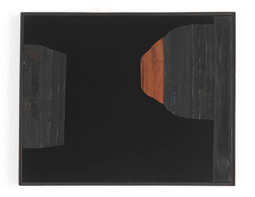 CAROL RAMA, Arsenale, 1971. Rubber tire on canvas 31 1⁄2 x 39 1⁄2 inches (80 x 100 cm) © Archivio Carol Rama, Torino. Photo: Elisabeth Bernstein. Courtesy Lévy Gorvy