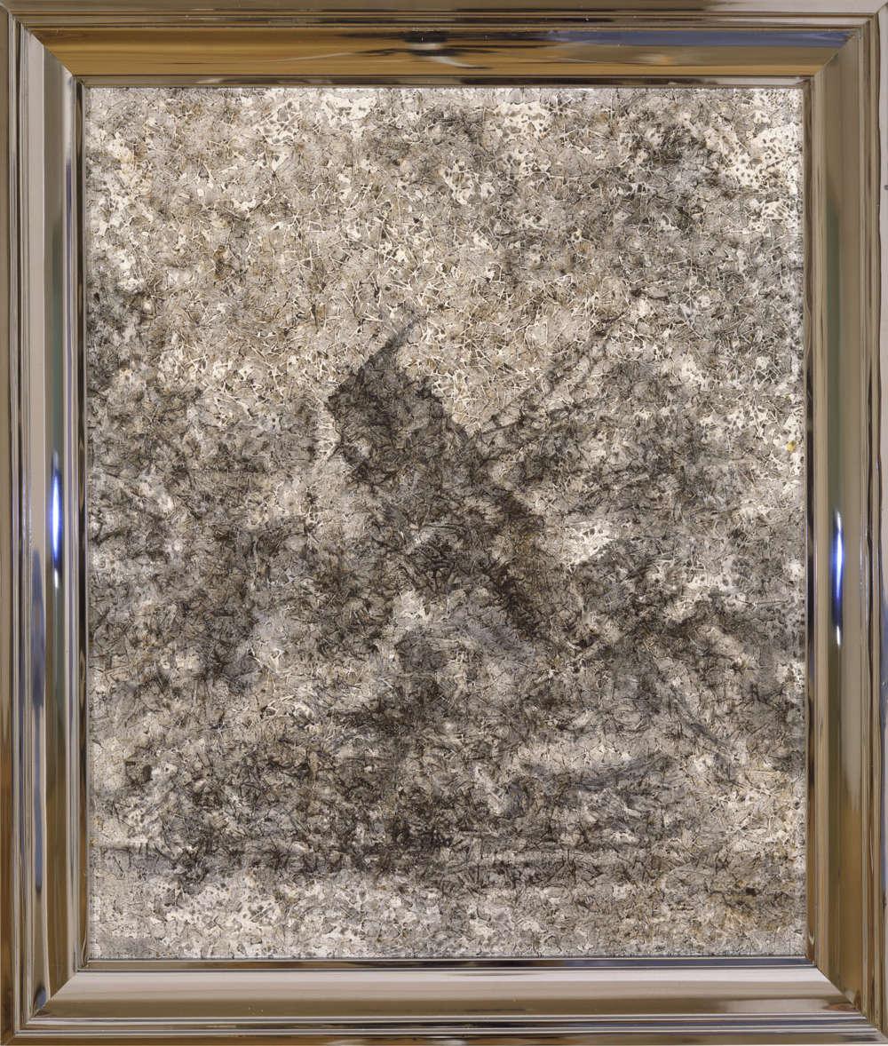 Richard Artschwager, Arizona, 2002. Acrylic on fiber panel, in metal artist's frame 26 x 22 in 66 x 55.9 cm © 2019 Richard Artschwager / Artists Rights Society (ARS), New York. Courtesy Gagosian.