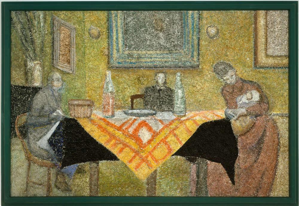 Richard Artschwager, Recollection (Vuillard), 2004. Acrylic on fiber panel, in painted wood artist's frame 51 x 74 in 129.5 x 188 cm © 2019 Richard Artschwager / Artists Rights Society (ARS), New York. Courtesy Gagosian.