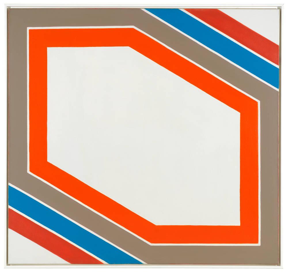 Imre Bak, Stripes VII, 1967. Acrylic on canvas 140 x 150 cm (55 1/8 x 59 inches)