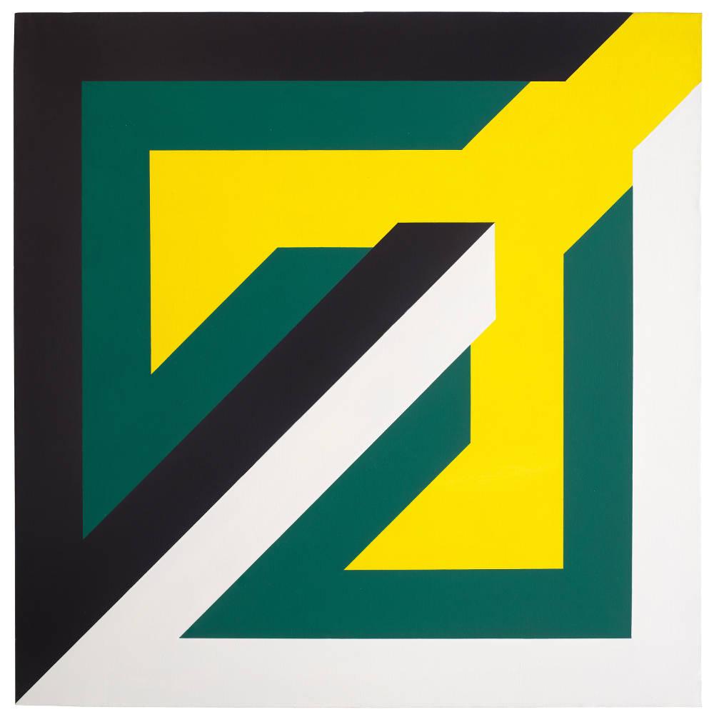 Imre Bak, Composition, 1970. Acrylic on canvas 130 x 130 cm (51 1/8 x 51 1/8 inches)