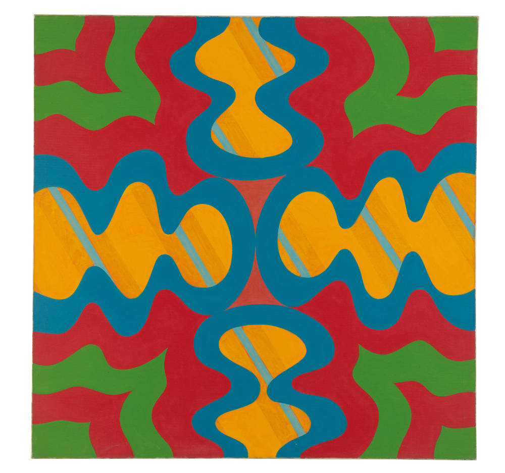 Imre Bak, Composition, 1967. Acrylic on canvas 120 x 120 cm (47 1/4 x 47 1/4 inches)