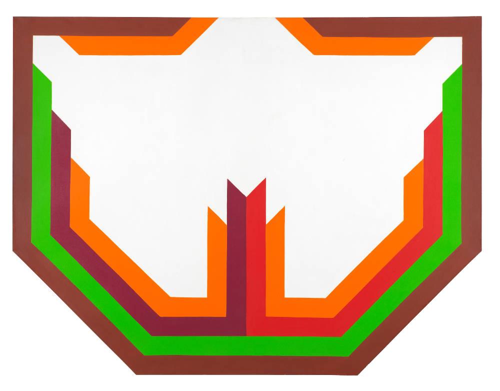 Imre Bak, Feynes No. 3, 1970. Acrylic on canvas 130 x 170 cm (51 1/8 x 67 inches)