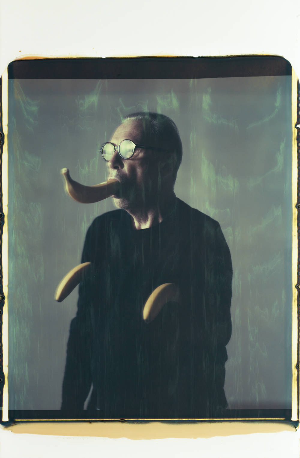 Erwin Wurm, Untitled, 2019. Polaroid image 56 x ca. 85 cm