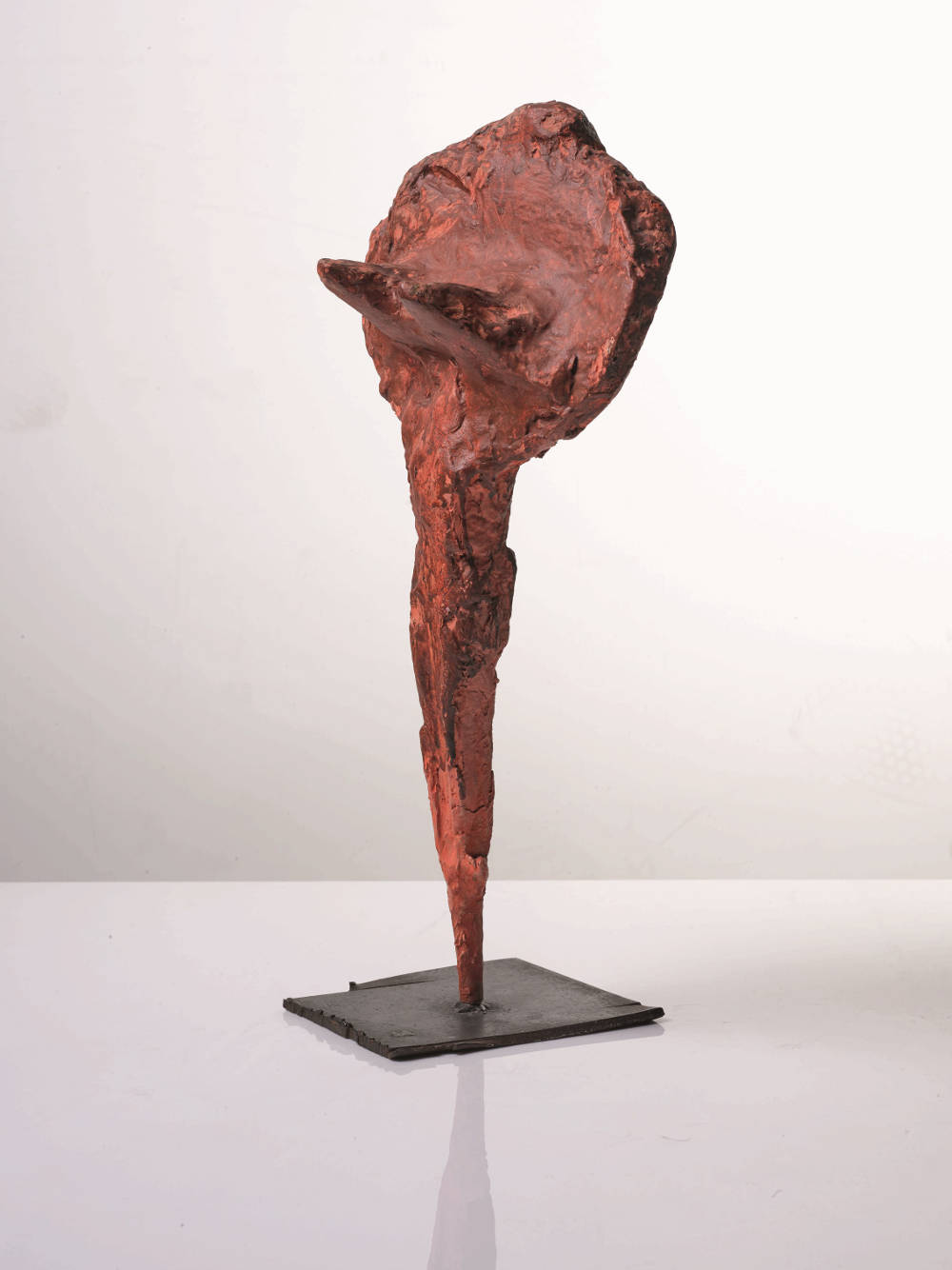 Franz West, Untitled, late 1980s/early 1990s. Papier-mâché, plaster, metal and acrylic 47 by 23 by 16 cm (18 1/2 by 9 1/16 by 6 5/16 in.)