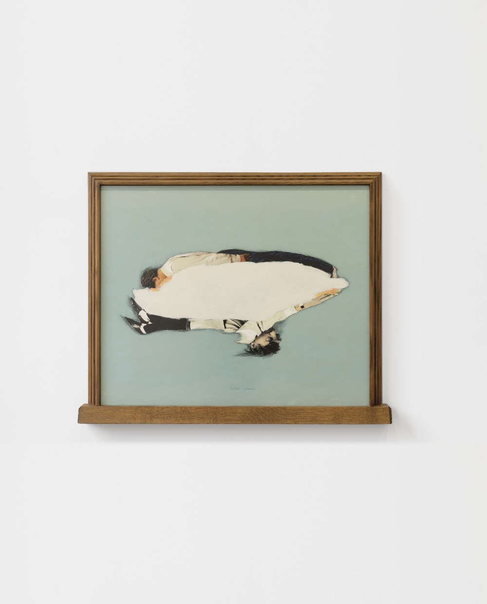 Ger van Elk, Cloudy Conscience (C de X), 1994. Color photograph and acrylic paint, wooden frame 94.9 x 113 x 6.7 cm 37 3/8 x 44 1/2 x 2 5/8 in