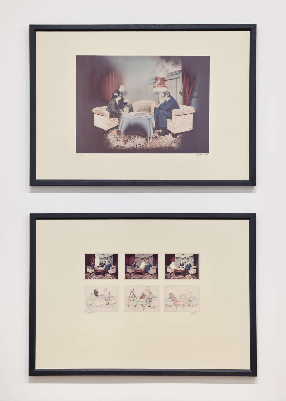 Ger van Elk, Missing Persons, 1976. Two coloured photolithographs. Framed, each: 74 x 104.1 x 3 cm 29 1/8 x 41 x 1 1/4 in