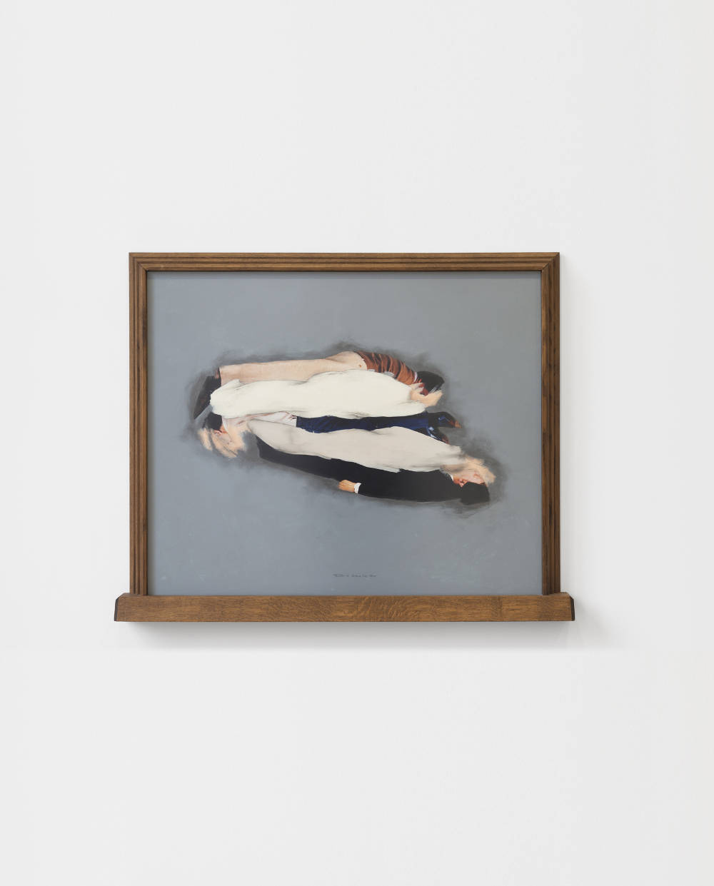 Ger van Elk, Sandwich Study 'Tombe' (C de X), 1994. Color photograph and acrylic paint, wooden frame 94.9 x 113 x 6.7 cm 37 3/8 x 44 1/2 x 2 5/8 in