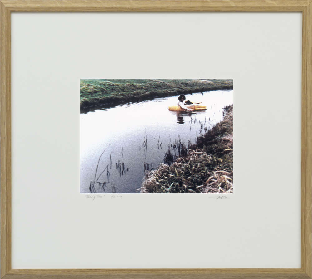 Ger van Elk, The Flattening of the brook's surface, 1972 / 2002. Harddisc, LCD screen, in surround in oak frame 56 x 62 x 4 cm 22 1/8 x 24 3/8 x 1 5/8 in