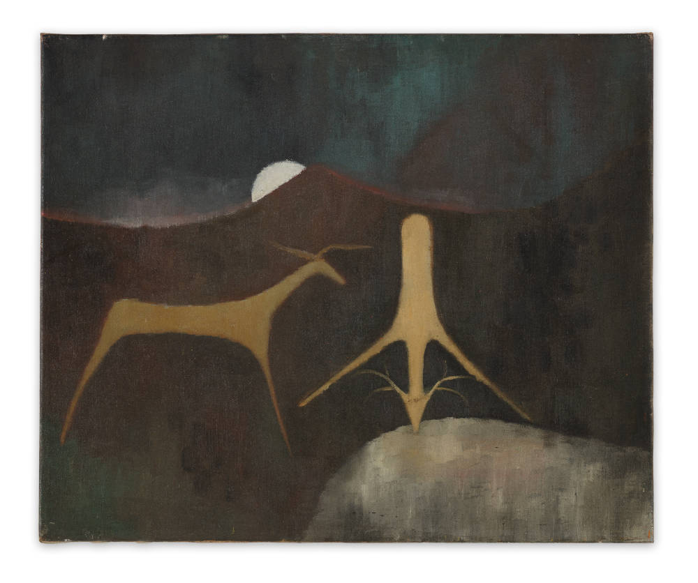 Luchita Hurtado, Untitled, c. 1940s. Oil on canvas 38.1 x 45.7 cm / 15 x 18 inches © Luchita Hurtado. Courtesy the artist and Hauser & Wirth. Photo: Jeff McLane