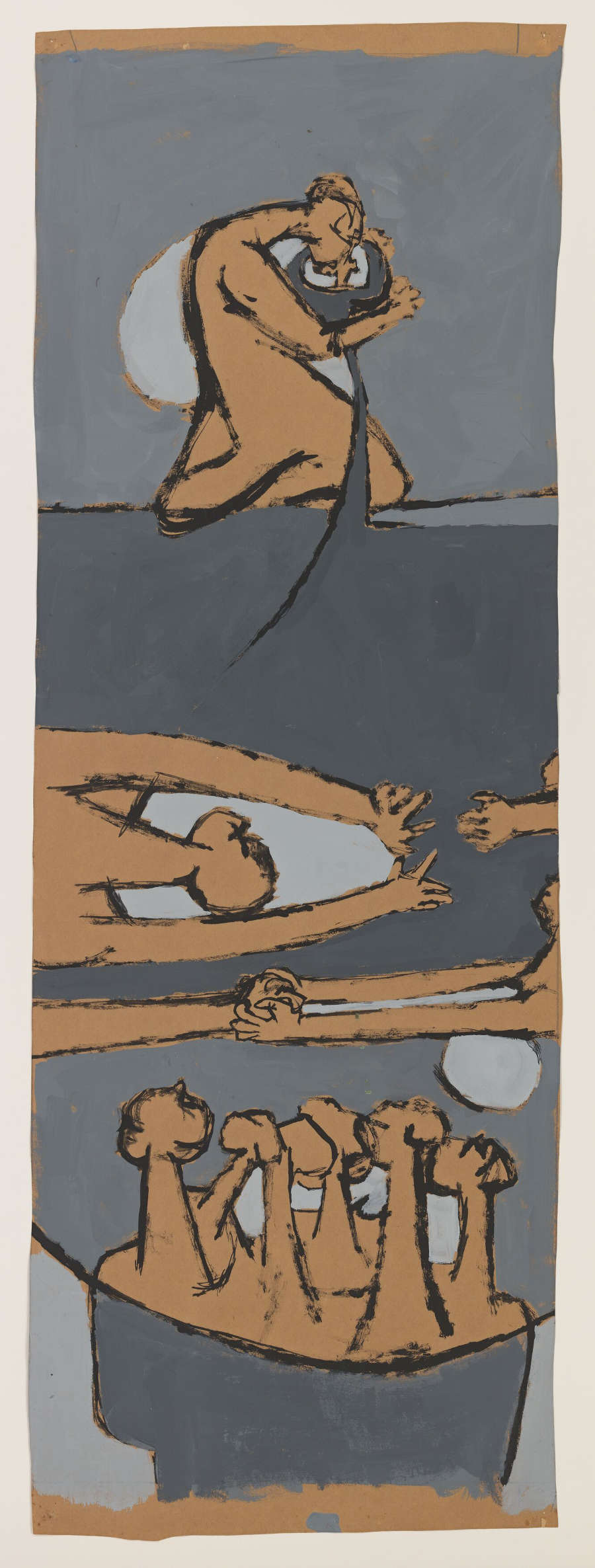 Luchita Hurtado, Untitled, c. 1954. Oil on paper Unique 106 x 37.8 cm / 41 3/4 x 14 7/8 inches © Luchita Hurtado. Courtesy the artist and Hauser & Wirth. Photo: Jeff McLane