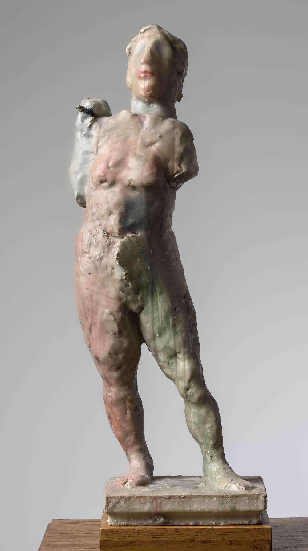 Markus Lüpertz, Diane, 2017. Plaster, wax 23 1/2 x 8 3/4 x 7 3/4 inches 59.5 x 22.5 x 19.5 cm