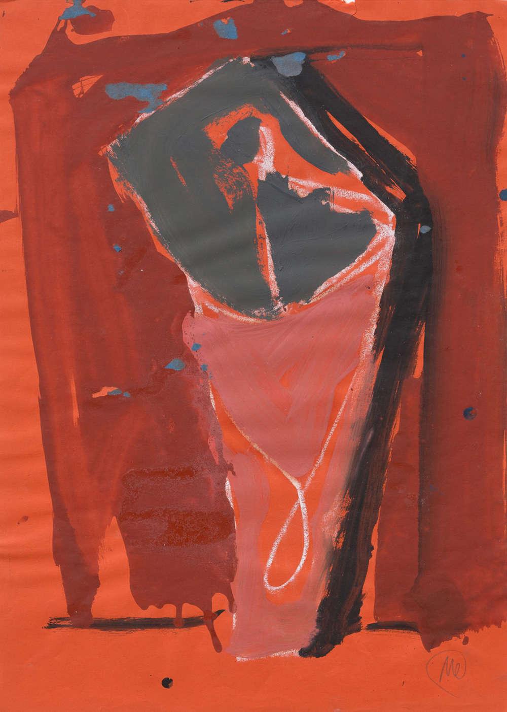 Markus Lüpertz, Untitled, 1980. Oil, acrylic on paper 27 1/2 x 19 3/4 inches 70 x 50 cm