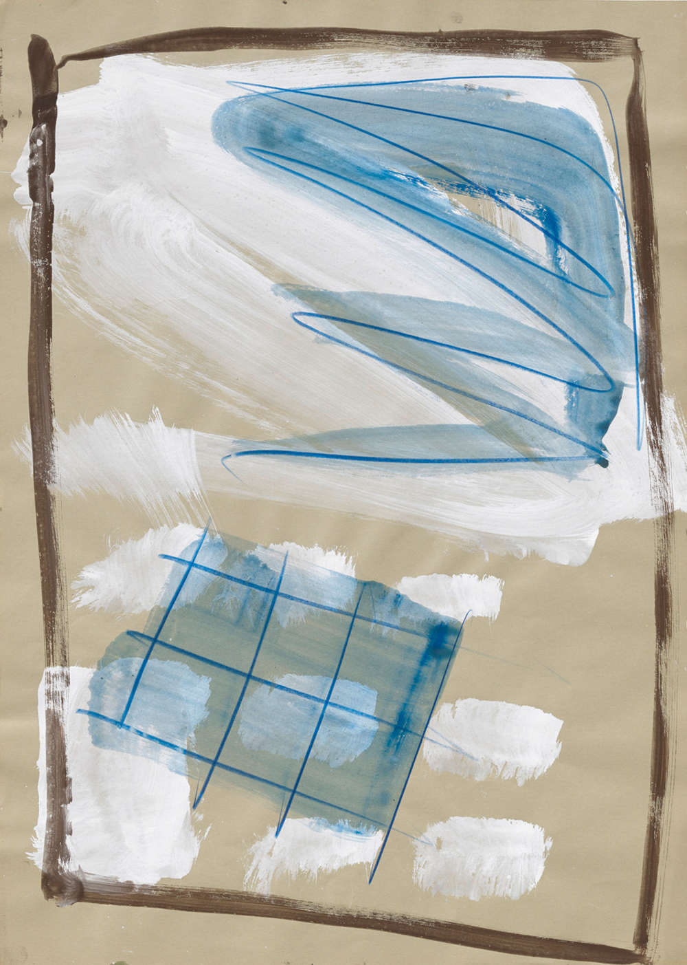 Markus Lüpertz, Untitled, 1977 - 1978. Gouache, crayon on paper 27 1/4 x 19 1/2 inches 69.5 x 49.5 cm
