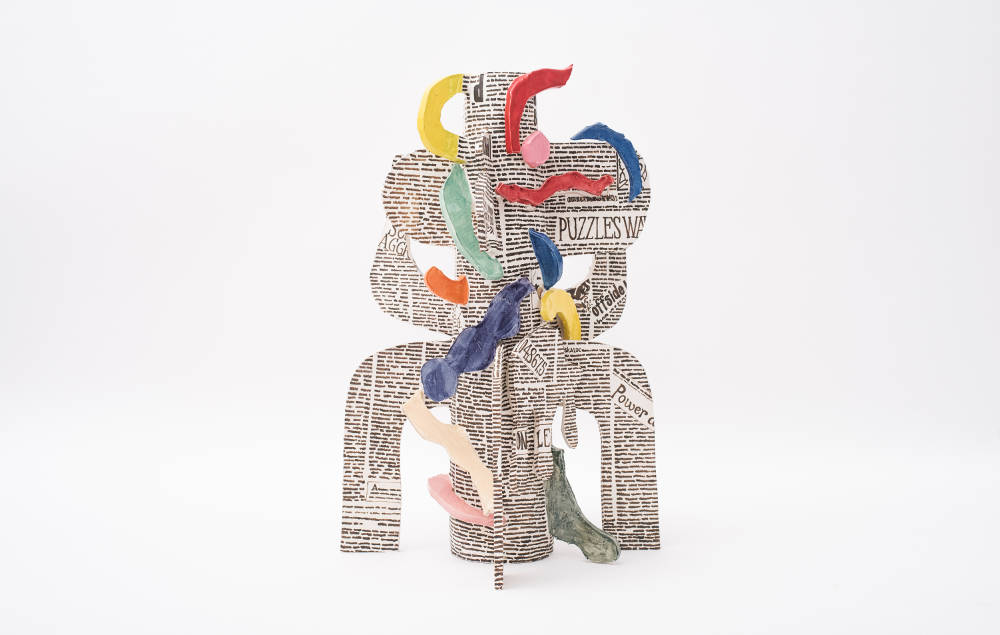 Milena Muzquiz, Kickapoo Daily (front), 2018. Lacquered ceramic H68.5 x L58 x D51 cm / H27 x L22.8 x D20.1 in. Courtesy of David Gill Gallery