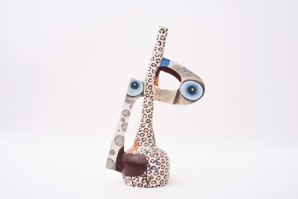 Milena Muzquiz, P-22, 2018. Lacquered ceramic H77 x L49 x D32 cm / H30.3 x L19.3 x D12.6 in. Courtesy of David Gill Gallery