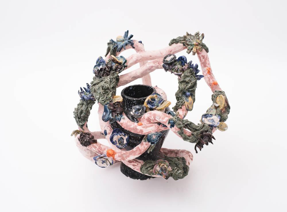 Milena Muzquiz, The New Revolution Roller Coaster, 2018. Lacquered ceramic H45 x L52 x D49 cm / H17.7 x L20.5 x D19.3 in. Courtesy of David Gill Gallery