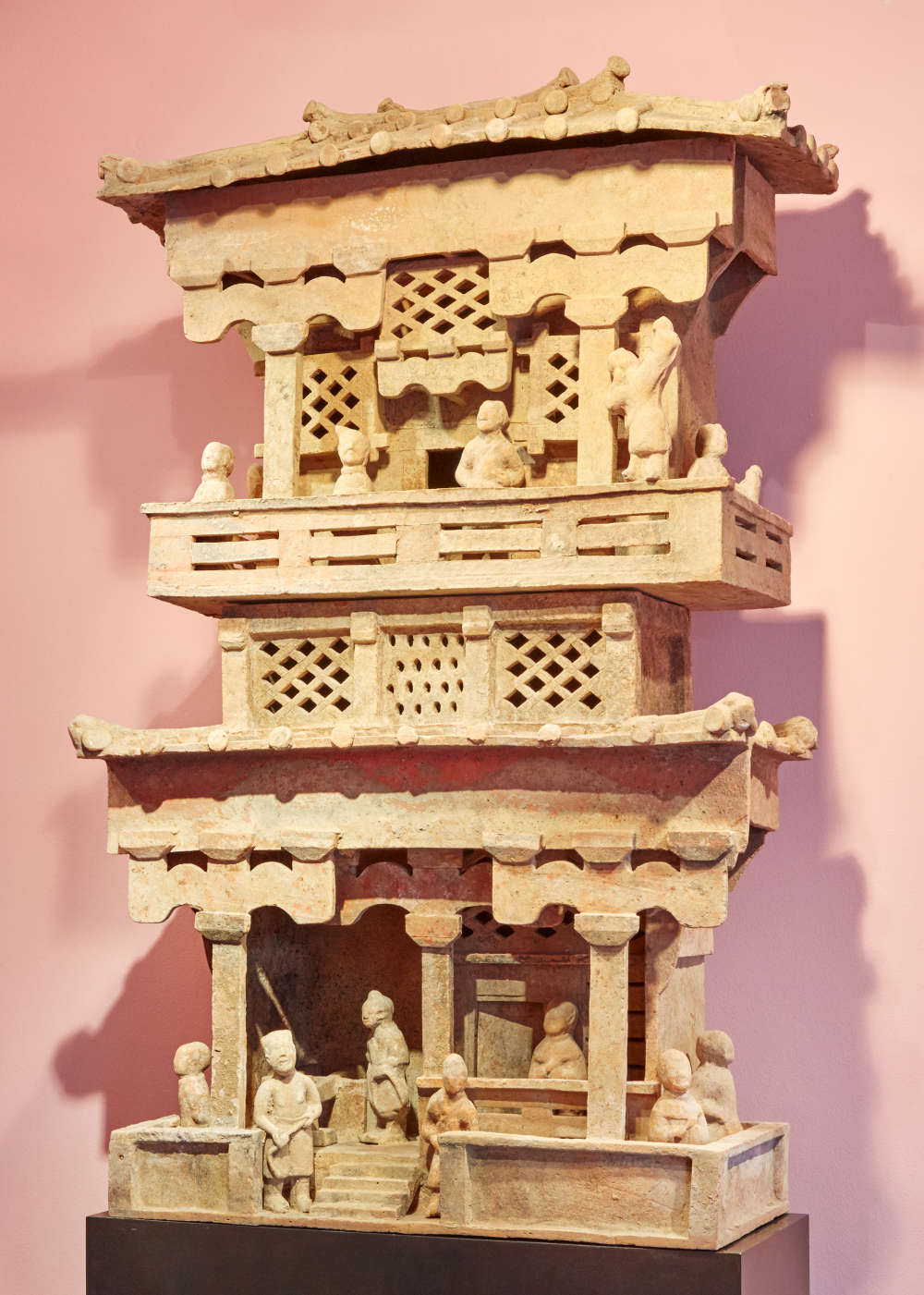 Painted Terractotta Model of a House, China, 0 - 300 CE