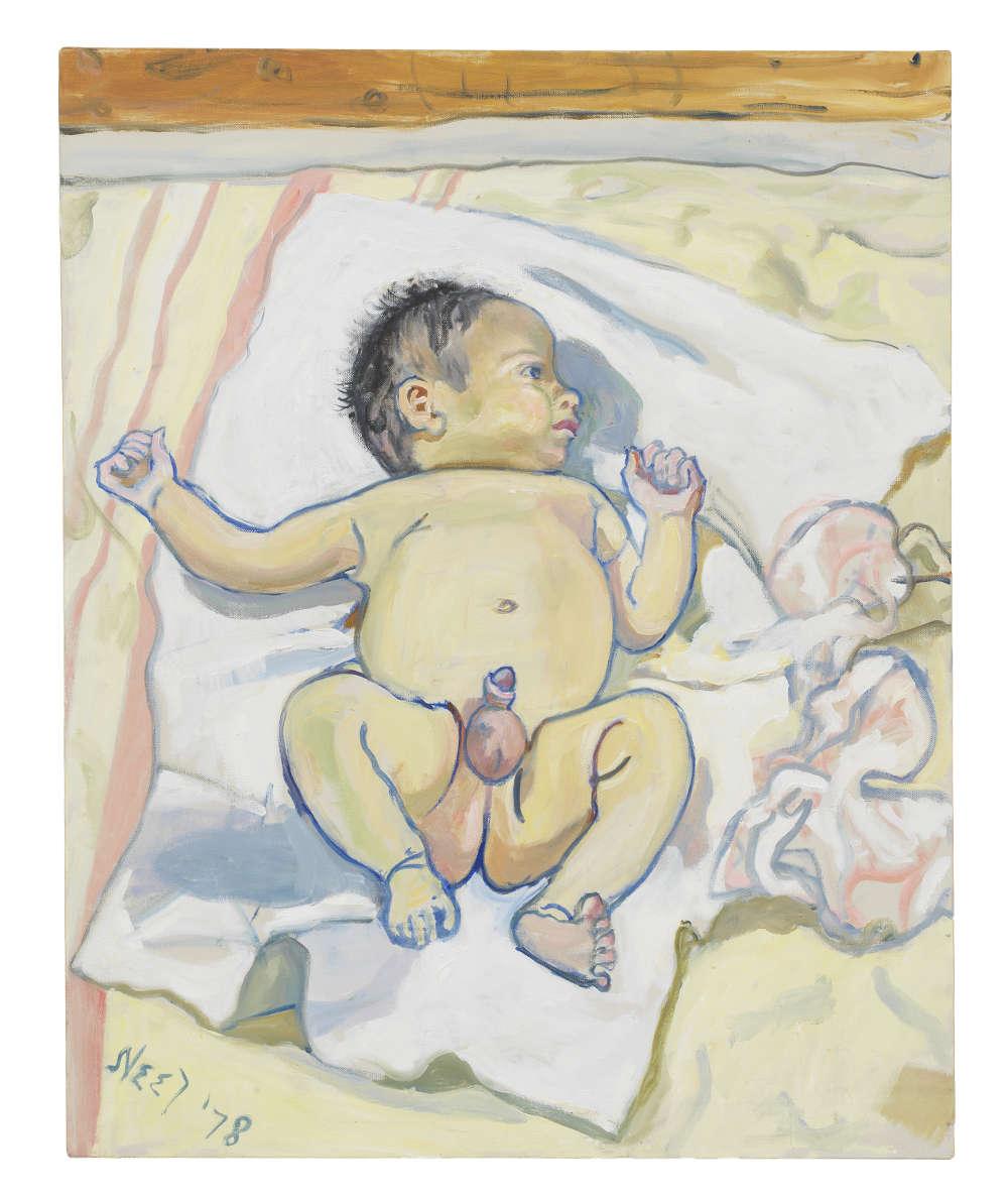 Alice Neel, Andrew, 1978. Courtesy The Estate of Alice Neel and David Zwirner © The Estate of Alice Neel