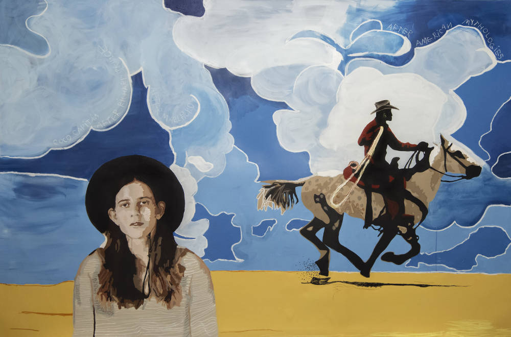 Coco Capitan after Richard Prince after Marlboro after American Mythologies, Londres, 2018. Oil and acrylic on canvas 300 x 200 cm © Coco Capitán, courtesy of the artist