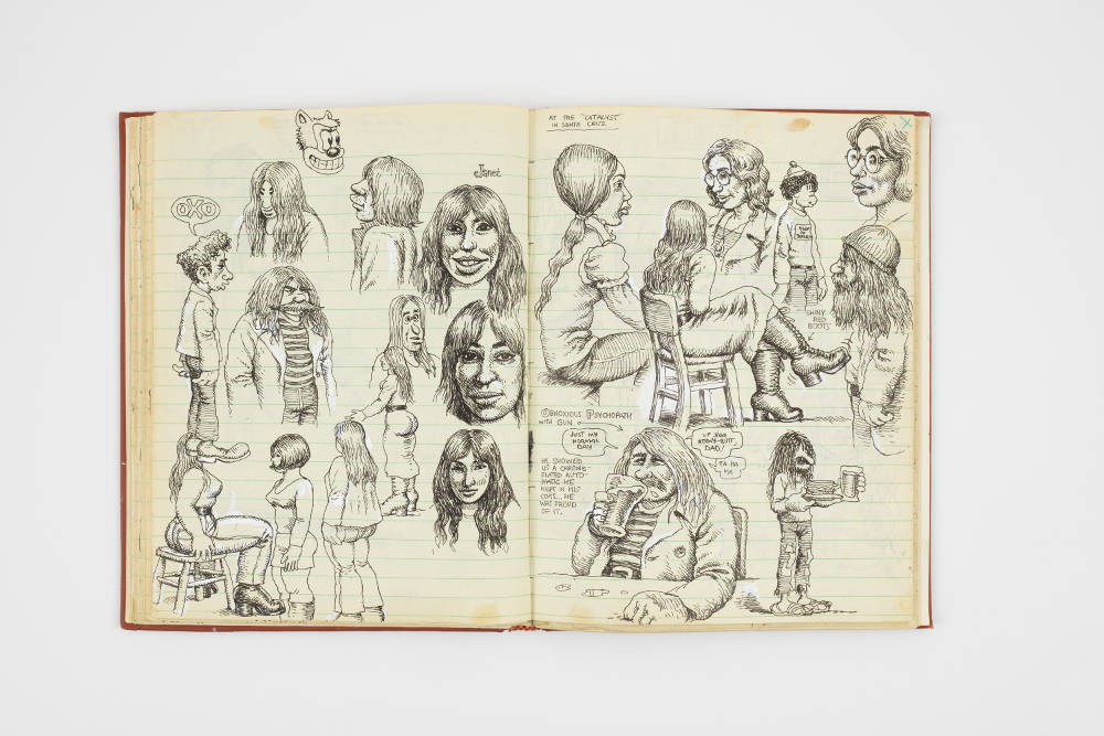 Spread from R. Crumb, Sketchbook, 1971 © Robert Crumb, 1971. Courtesy the artist, Paul Morris and David Zwirner