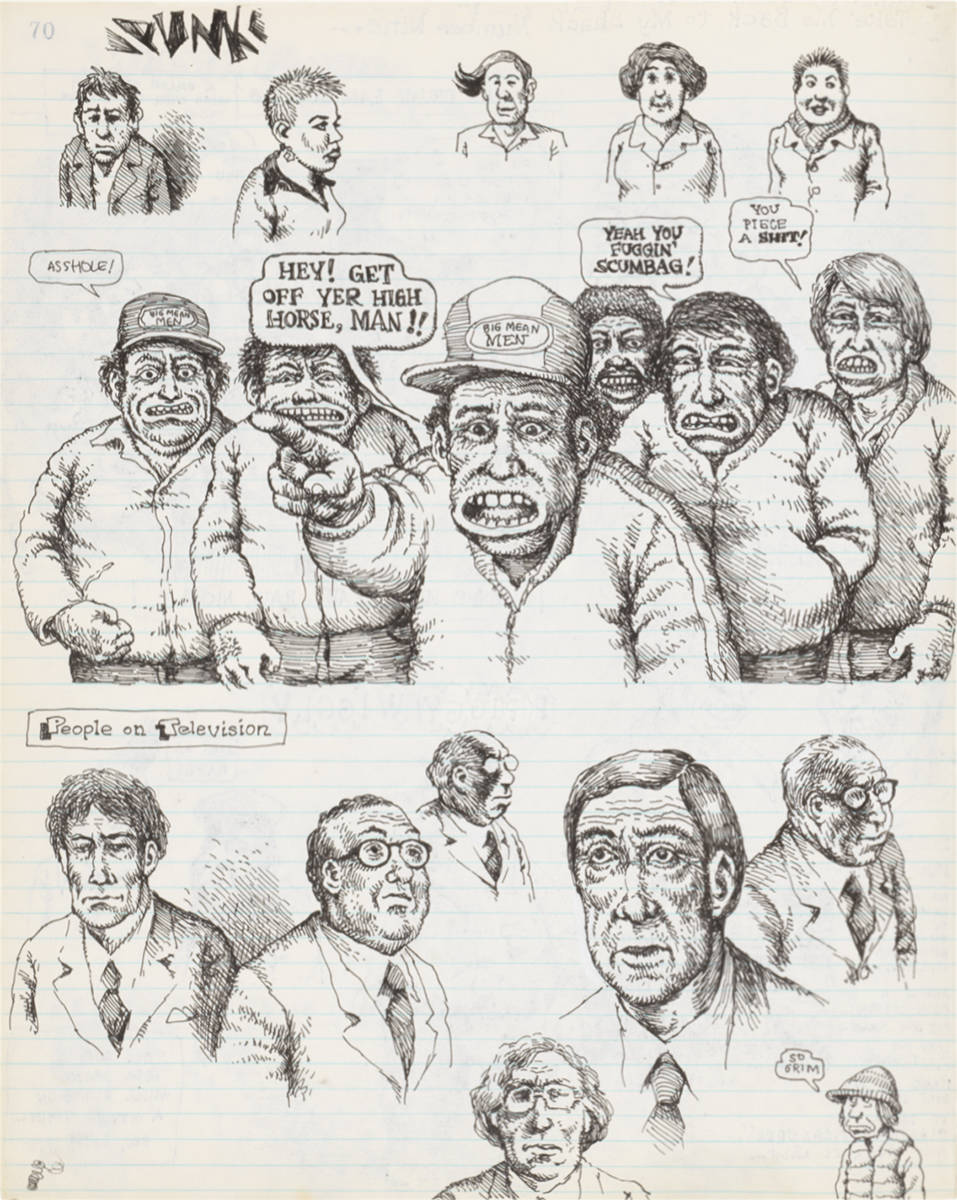 Page from R. Crumb, Sketchbook, 1979-1981 © Robert Crumb, 1979-1981. Courtesy the artist, Paul Morris and David Zwirner
