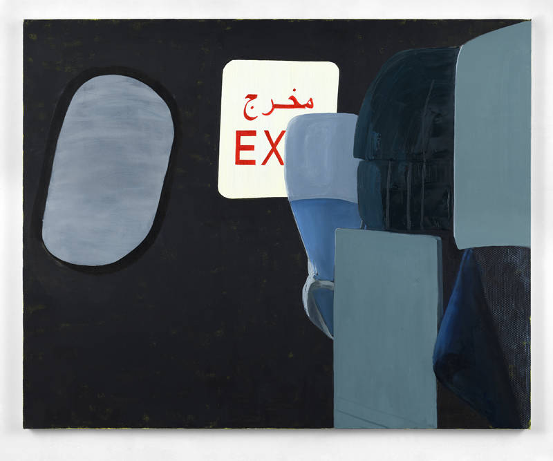 Dexter Dalwood, Coming Down, 2018. Oil on canvas 150 x 186 cm (59 1/8 x 73 1/4 in.) Courtesy the artist and Simon Lee Gallery