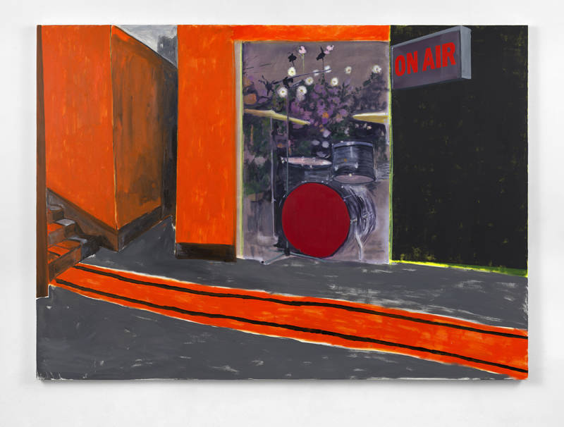 Dexter Dalwood, ON AIR, 2018. Oil on canvas 180 x 250 cm (70 7/8 x 98 3/8 in.) Courtesy the artist and Simon Lee Gallery
