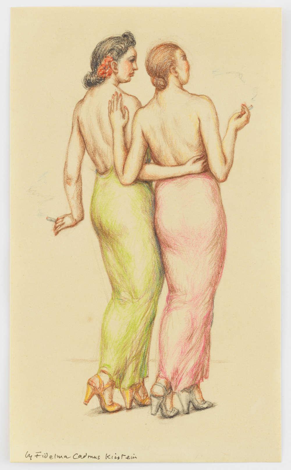 Fidelma Cadmus Kirstein, Two Women, c. 1930-1939
