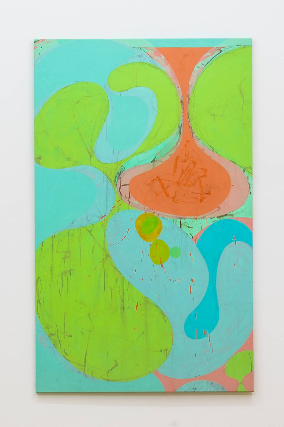 Flavio Garciandía, Sin titulo, 2010. Acrylic on canvas 145 x 89 x 2 cm (57 1/8 x 35 x 3/4 in.) signed and dated verso