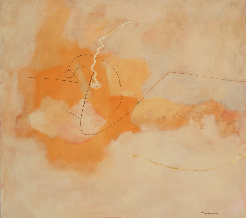 Harry Bertschmann (b. 1931), Untitled, 1956. Oil on canvas, 55 x 61 1/2 inches. Signed lower right: HBertschmann