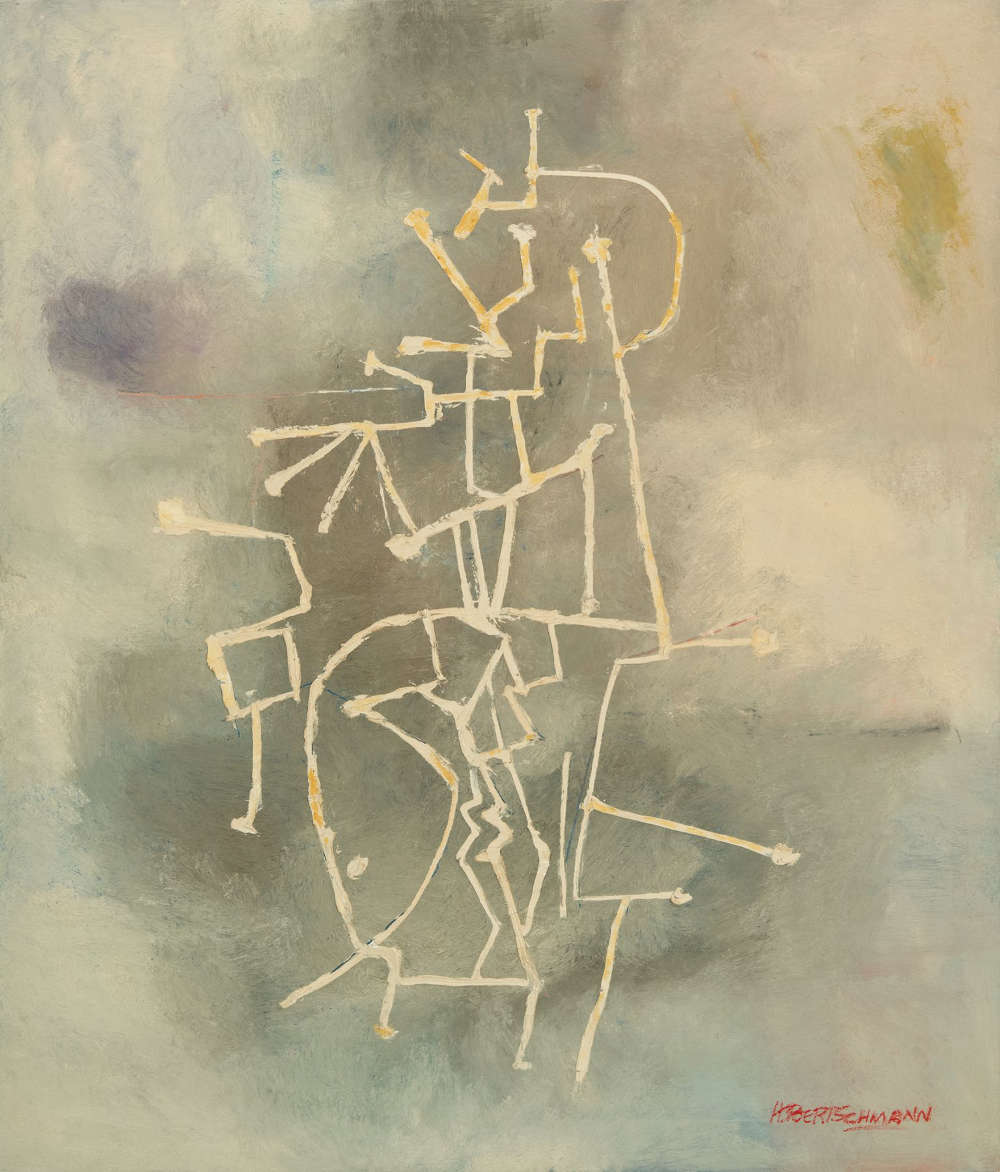 Harry Bertschmann (b. 1931), Untitled, 1956. Oil on canvas, 59 x 51 inches. Signed lower right: HBertschmann