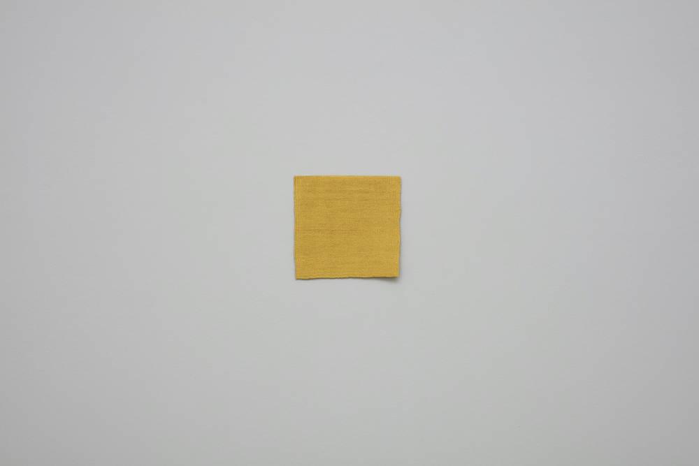 Helen Mirra, Lightning, 2016, linen, wool, 26.7 x 27.9 cm, 10 1/2 x 11 ins. Photo: Robert Glowacki. © Helen Mirra. Courtesy the artist, Modern Art, London & Peter Freeman, Inc., New York